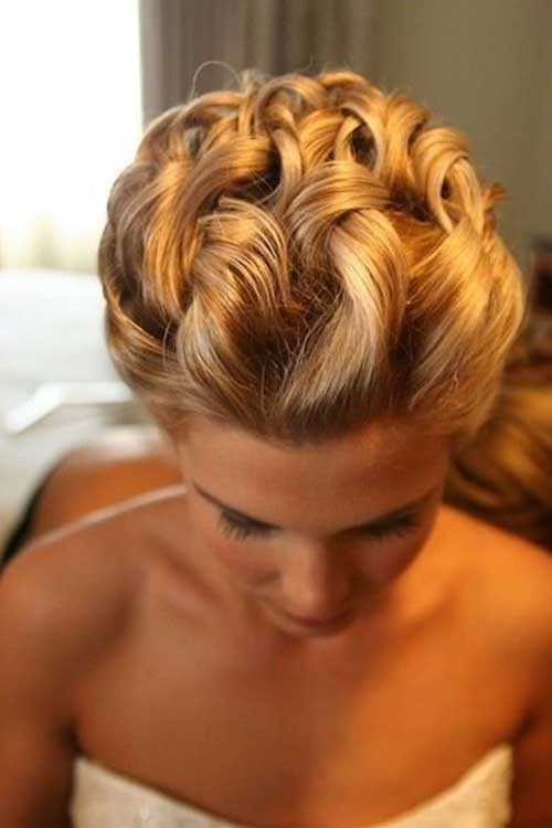 Elegant Short Hairstyles Curly Updo