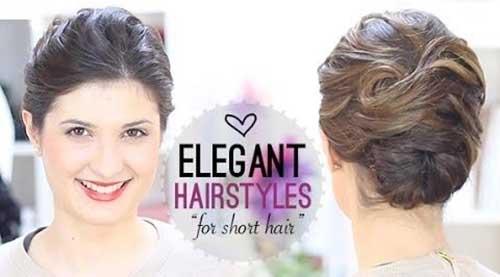Elegant Short Hair Nice Updo Style