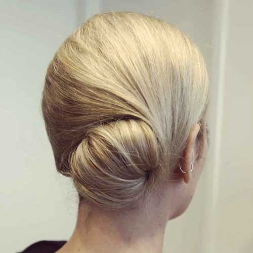 Elegant Short Hair Updo Style