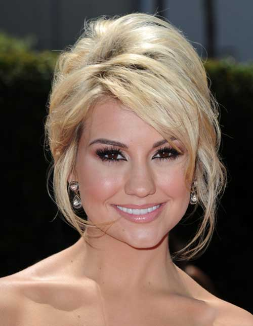 Elegant Updo Hair for Short Blonde Hairstyles