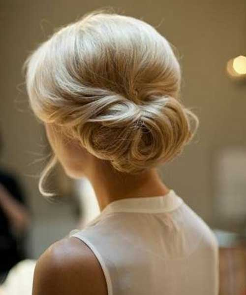 Elegant Updo Hairstyles for Short Blonde Fine Hair