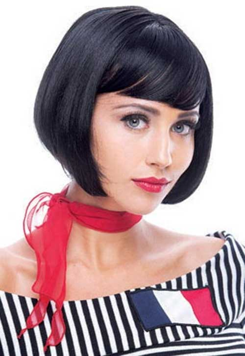 French Dark Bob Hairstyle