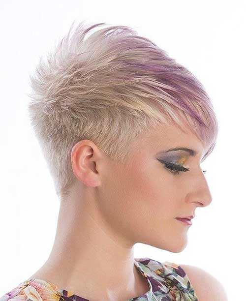 Best Funky Short Blonde Hair Style