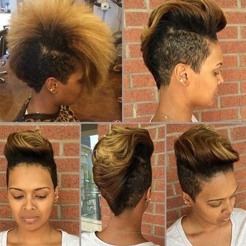 Best Funky Short Blonde Hair with Dark Roots