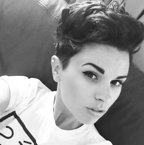 Hairstyle Ideas for Short Dark Pixie Hair