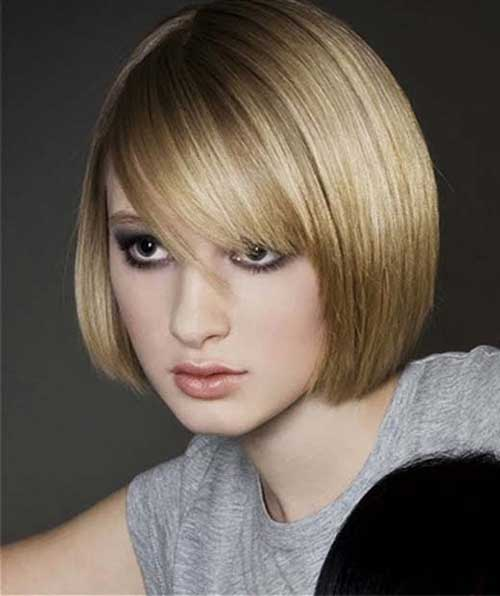 Hairstyles for Short Straight Thin Bob Hair Idea