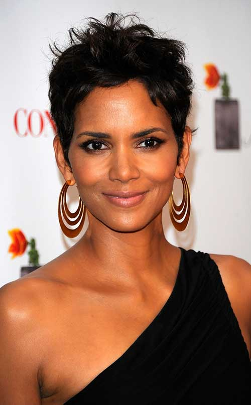 Halle Berry Curly Pixie Haircut