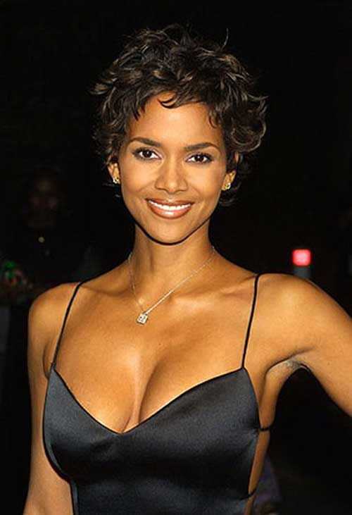 Halle Berry Curly Pixie Cuts