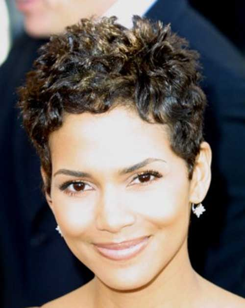 Halle Berry Cute Curly Pixie Idea