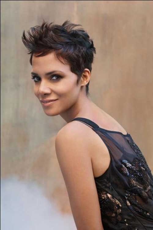 Halle Berry Cute Pixie Hair