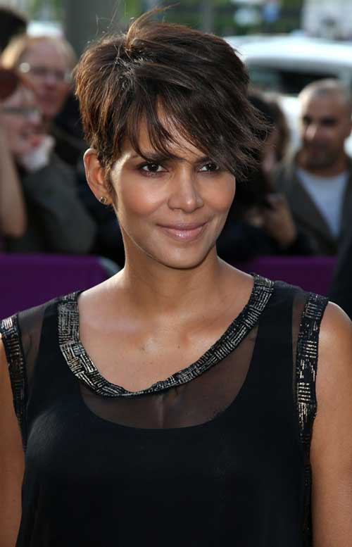 Halle Berry Layered Pixie Hair