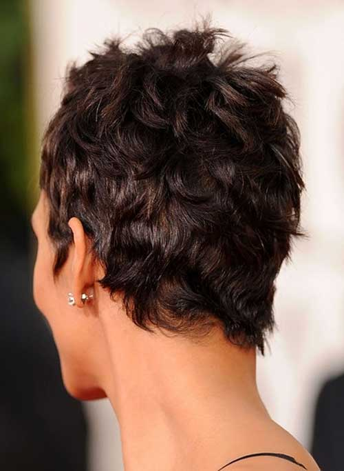 Halle Berry Pixie Haircut Back View