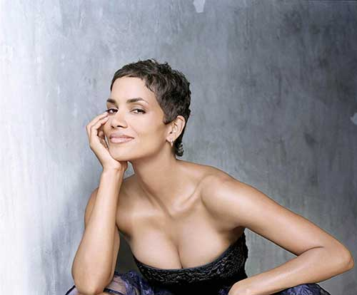 Halle Berry Very Short Pixie Haircut