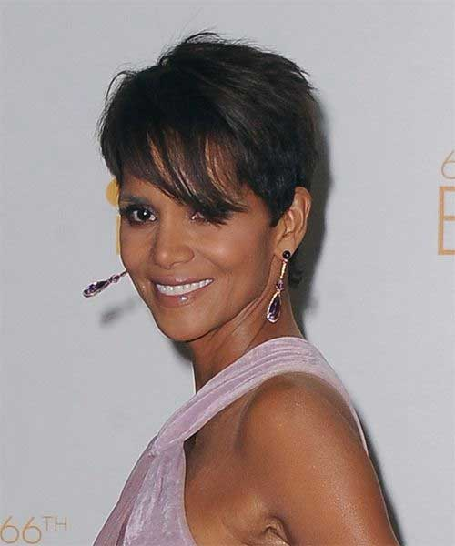 Halle Berry Pixie Cuts with Bangs