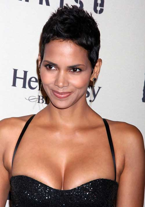 Halle Berry Short Hair Pixie Cut