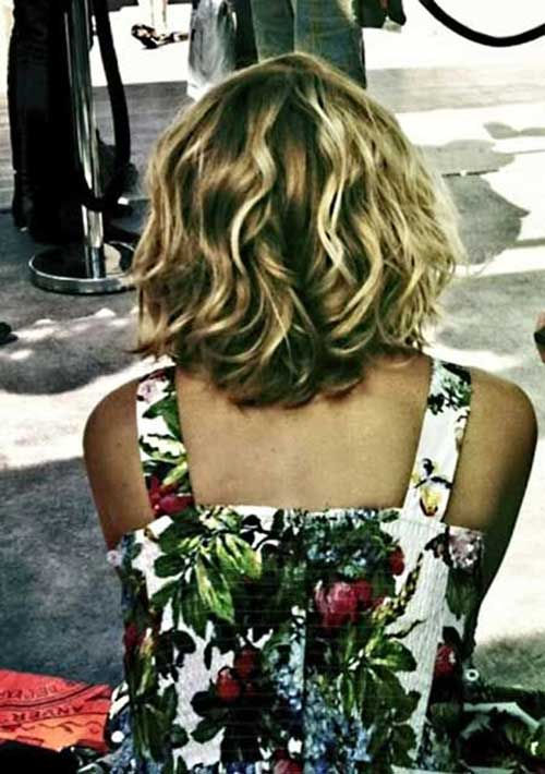 Highlighted Curly Bob Haircuts
