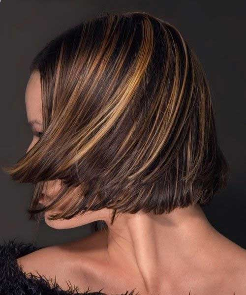 Highlighted Brown Bob Idea for Women