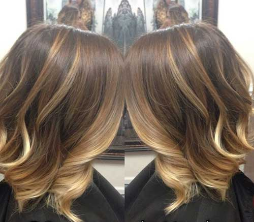 Highlighted Brown Ombre Bob Idea
