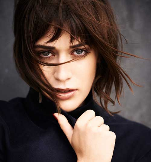 Images of Short Hair Cuts with Layered Bangs