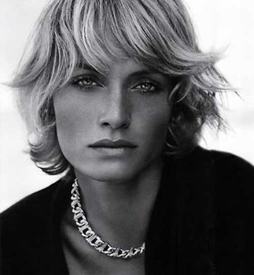 Images of Short Layered Blonde Hair with Bangs