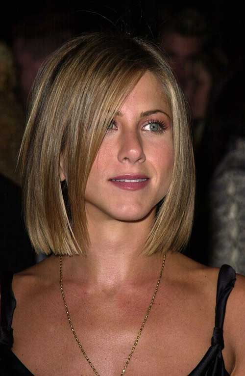 Jennifer Aniston Fine Bob Haircuts