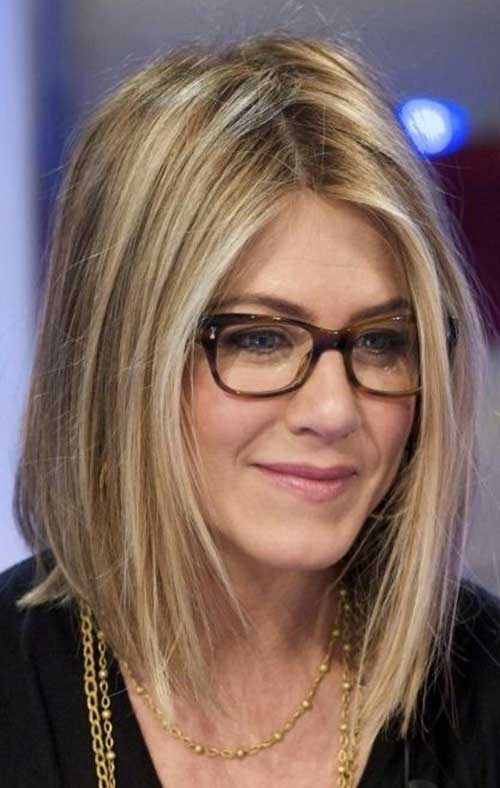 Jennifer Aniston Fine Straight Bob Haircuts