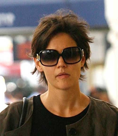 Katie Holmes Daily Pixie Cuts