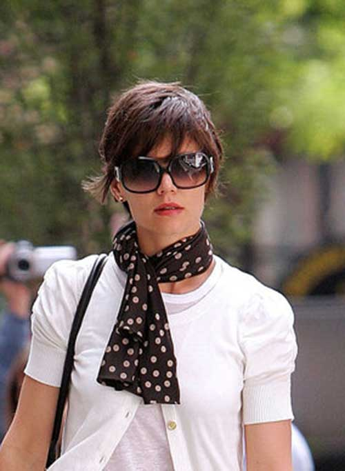 Katie Holmes Layered Pixie Style Cuts