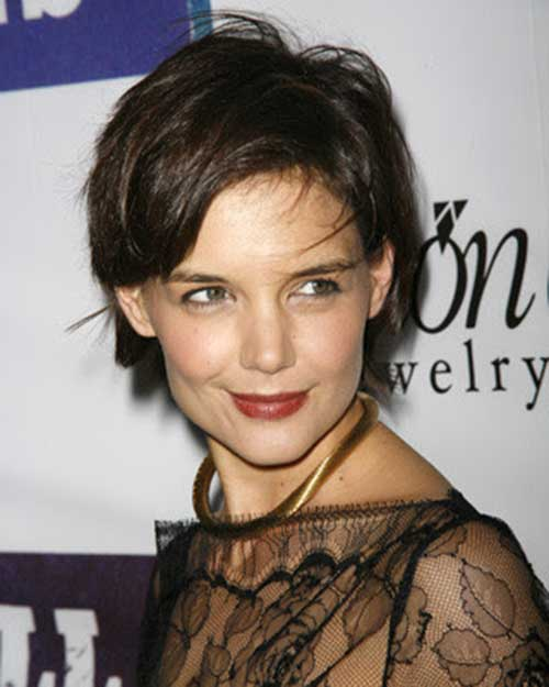 Katie Holmes Layered Pixie Hair