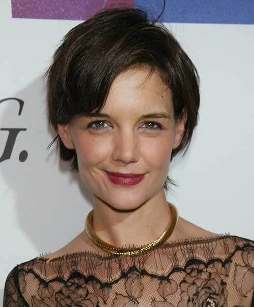 Katie Holmes Short Hair Back View