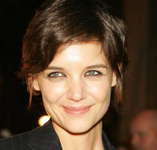 Katie Holmes Straight Style Pixie Hair