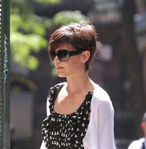 Katie Holmes Stylish Pixie Cut
