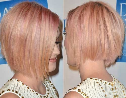 Katy Perry Blonde Pink Short Hairstyles