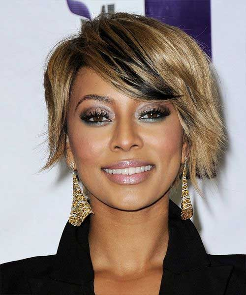 Keri Hilson Blonde Choppy Bob Hairstyles