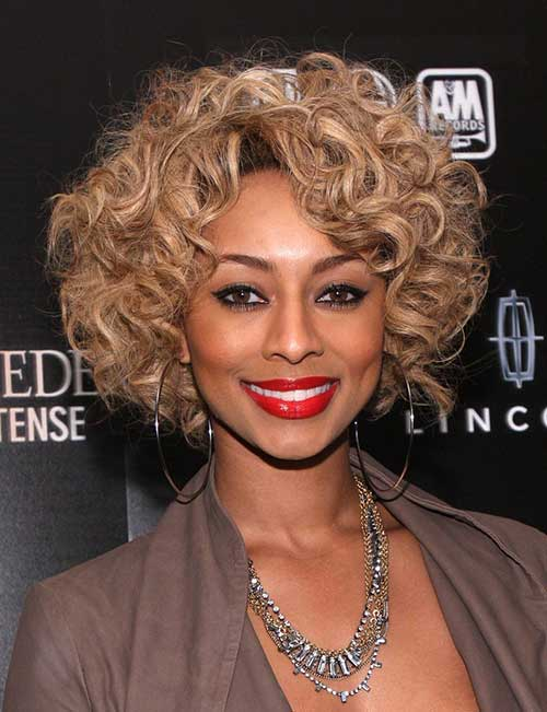 Keri Hilson Blonde Curly Bob Hair