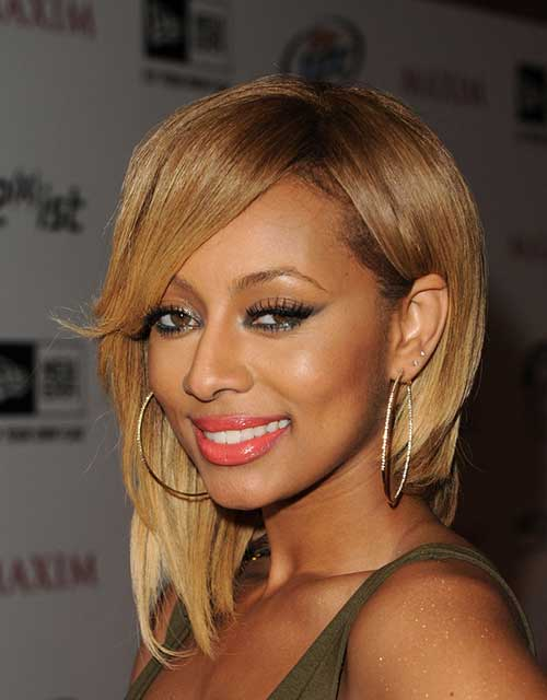 Keri Hilson Blonde Inverted Bob Hairstyles