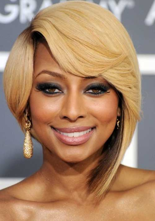 Keri Hilson Blonde Layered Bob Hair