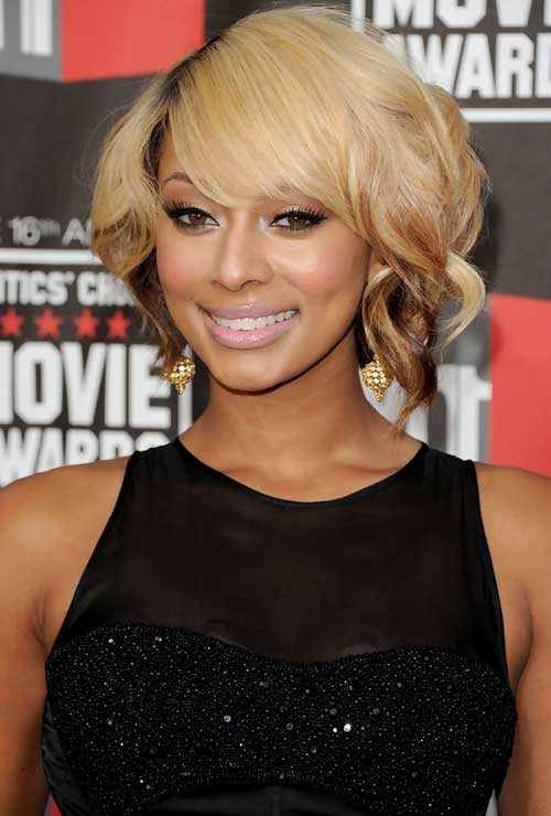 Keri Hilson Blonde Short Bob Hair