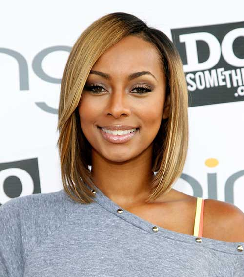 Keri Hilson Blonde Straight Bob Hairstyle
