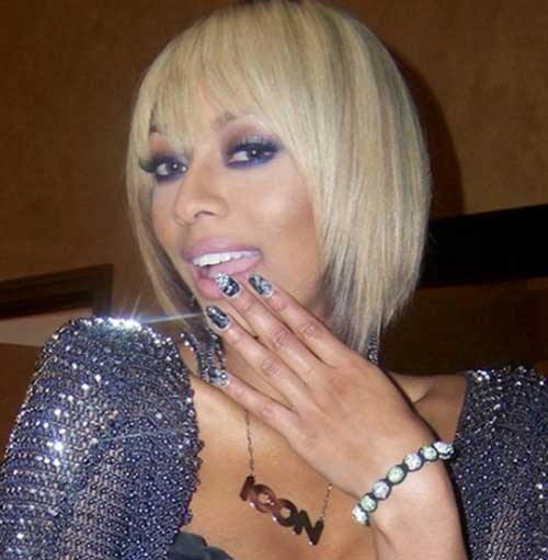 Keri Hilson Blonde Straight Bob Hair