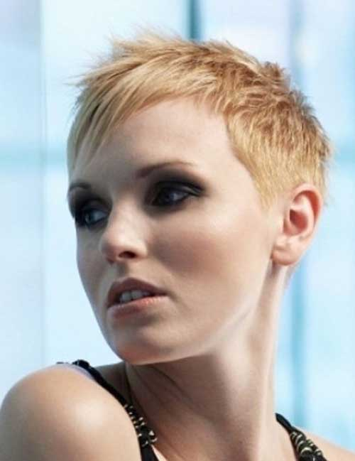 Layered Blonde Pixie Hair Women