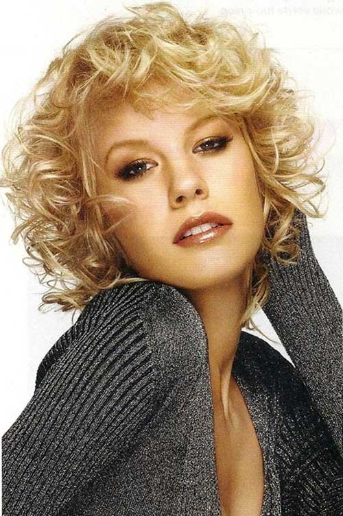 Sensational Best Curly Short Hairstyles For Round Faces Short Hairstyles Hairstyles For Women Draintrainus