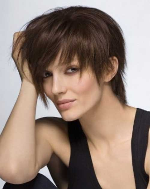 Nice Layered Long Pixie for Mature Women