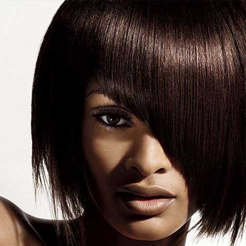Layered Short Hair Ideas with Bangs for Black Ladies