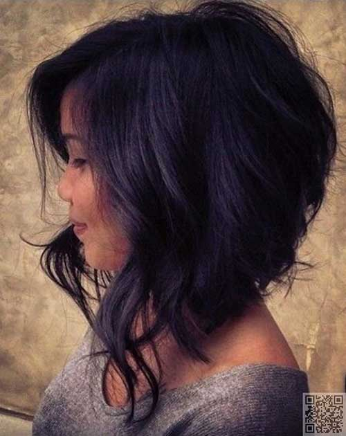 Medium Short Wavy Dark Hairstyles