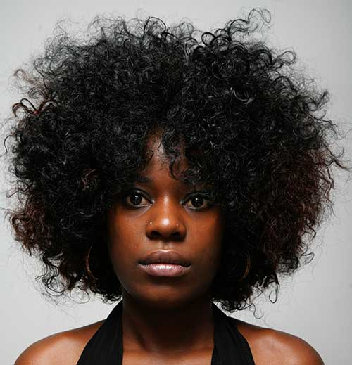 Hairstyles For Afros : Short curly afro hairstyle hairstyles