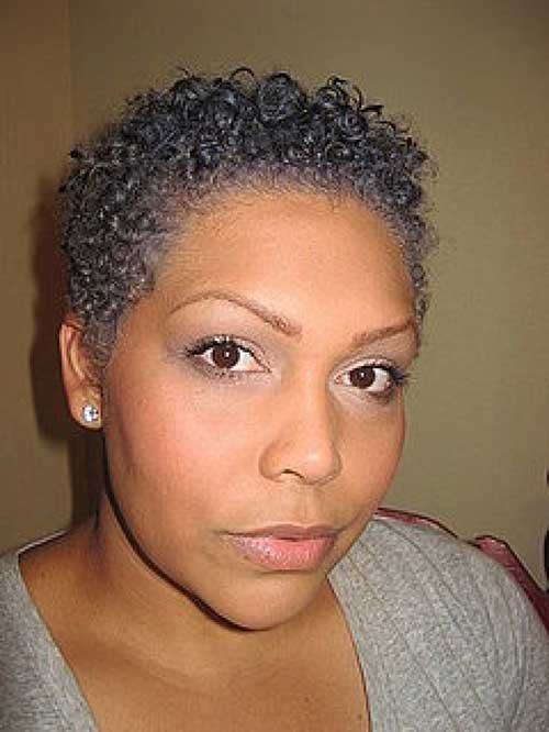 Natural Curly Grey Short Haircuts