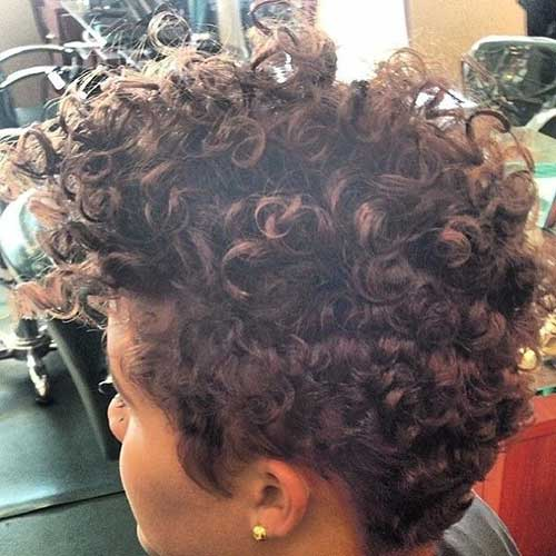 Natural Curly Long Pixie Hairstyle