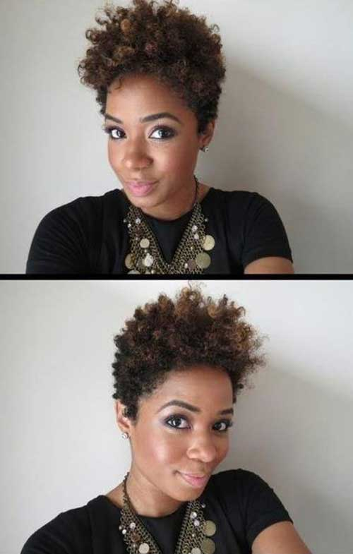 Best Natural Curly Short Hair Style for Women
