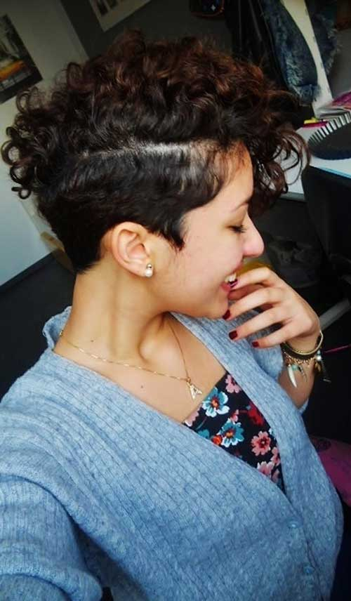 Nice Natural Curly Short Mohawk Hairstyle